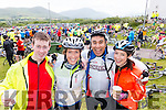 Paul Hayes, Listowel, Mired Coughlan, Killarney, Os Quiros, Wicklow and Grainne Coughlan, Killarney, Cyclists at the Ring of Kerry Charity Cycle on Saturday.
