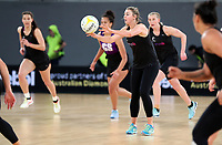 22.09.2018 Silver Ferns Gina Crapmton in action during Silver Ferns training in Melbourne. Mandatory Photo Credit ©Michael Bradley.