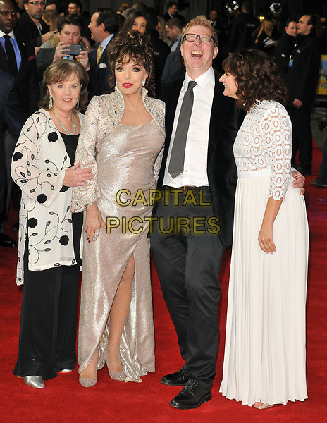 Pauline Collins, Dame Joan Collins, Roger Goldby and Sian Reeves at the &quot;The Time of Their Lives&quot; world film premiere, Curzon Mayfair cinema, Curzon Street, London, England, UK, on Wednesday 08 March 2017.<br /> CAP/CAN<br /> &copy;CAN/Capital Pictures