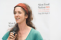 "Willow Rosenthal, founder of City Slicker Farms, speaks at Community Planting Day (July 12, 2008) of the Slow Food Nation Victory Garden at San Francisco's Civic Center. The garden project ""demonstrates the potential of a truly local agriculture practice that unites and promotes Bay Area urban gardening organizations, while producing high quality food for those in need.""* The garden is planted on the same site as the post-World War II garden sixty years ago. The food will be grown over a period of two months, harvested, and donated to people in need..*slowfoodnation.org"