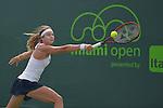 Stefanie Voegele (SUI) loses to Lourdes Domingues Lino (ESP) 6-2, 7-5,