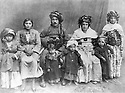 Iran 1930? .A family of the Fezulla Beghi tribe, Haji Mohammed Amini with his 2 wives and his sister.Iran 1930? .Une famille de la tribu Fezulla Beghi, Haji Mohammed Amini avec ses 2 femmes et sa soeur