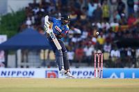 February 26th 2020, the Mahinda Rajapaksha International Stadium, Hambantota, Sri Lanka; One Day International cricket, Sri Lanka versus West Indies; Thisara Perera plays a shot