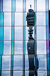 London Building with the BT Tower (aka Post Office Tower) as a reflection...(c) Malcolm McCurrach   New Wave Images UK