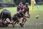 J. Paul passes from a ruck. Counties Manukau Premier 2 Championship game between Bombay and Papakura played at Bombay on May 13th, 2006. Papakura won 8 - 7.