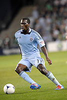 C.J Sapong (17) Sporting KC forward in action... Sporting Kansas City defeated New England Revolution 3-0 at LIVESTRONG Sporting Park, Kansas City, Kansas.