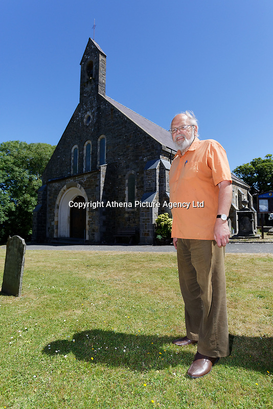 Pictured: Local resident Martin Lewis. Thursday 28 June 2018<br /> Re: The bell of St Mary's Church in the town of Fishguard will not be ringing on Sunday morning in west Wales, UK.