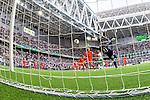 Stockholm 2014-05-24 Fotboll Superettan Hammarby IF - Varbergs BoIS FC  :  <br /> Hammarbys Lars Mendonca Fuhre g&ouml;r 1-0 bakom Varbergs m&aring;lvakt Joakim Wulff <br /> (Foto: Kenta J&ouml;nsson) Nyckelord:  Superettan Tele2 Arena HIF Bajen Varberg BoIS jubel gl&auml;dje lycka glad happy remote remotekamera