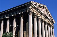 Columns outside La Madeleine church, Paris, France.