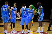 The Breakers are all smiles after the Australian National Basketball League match between Skycity Breakers and Illawarra Hawks at TSB Bank Arena in Wellington, New Zealand on Thursday, 14 February 2019. Photo: Dave Lintott / lintottphoto.co.nz