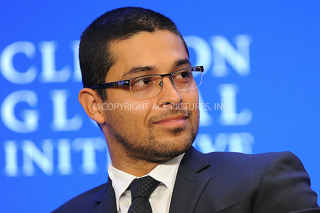 WWW.ACEPIXS.COM<br /> September 25, 2013...New York City<br /> <br /> Wilmer Valderrama on stage during the annual Clinton Global Initiative (CGI) meeting on September 25, 2013 in New York City.<br /> <br /> Please byline: Kristin Callahan/Ace Pictures<br /> <br /> Ace Pictures, Inc: ..tel: (212) 243 8787 or (646) 769 0430..e-mail: info@acepixs.com..web: http://www.acepixs.com