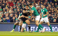 19th November 2016 | IRELAND vs NEW ZEALAND<br /> <br /> Malakai Fekitoa is tackled by Jared Payne and Conor Murray during the Autumn Series International clash between Ireland and New Zealand at the Aviva Stadium, Lansdowne Road, Dublin,  Ireland. Photo by John Dickson/DICKSONDIGITAL
