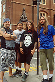 SEPULTURA - L-R: Max Cavalera, Paolo Jr, Igor Cavalera, Andreas Kisser - Photosession in London UK - 01 Sep 1993.  Photo credit: George Chin/IconicPix