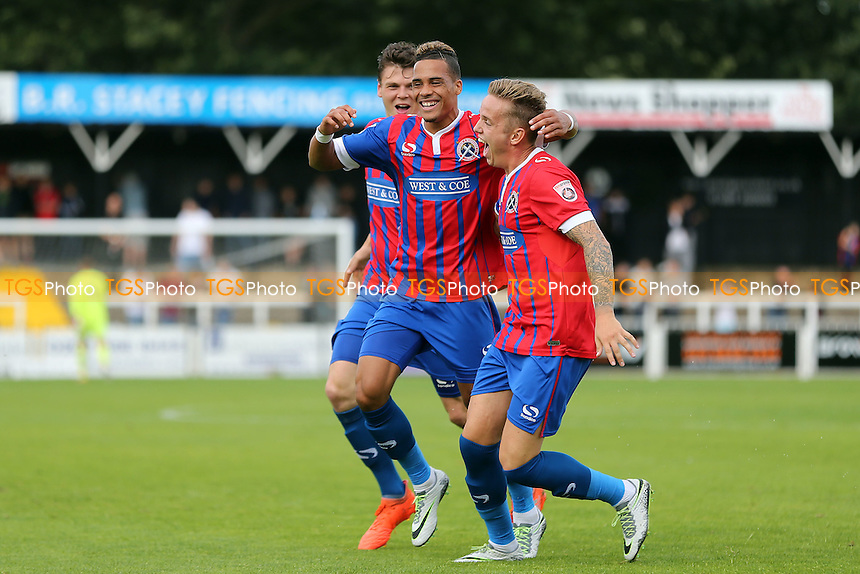Corley Whitely of Dagenham is congratulated after scoring the opening goal during Bromley vs Dagenham and Redbridge, Vanarama National League Football at Hayes Lane on 24th September 2016