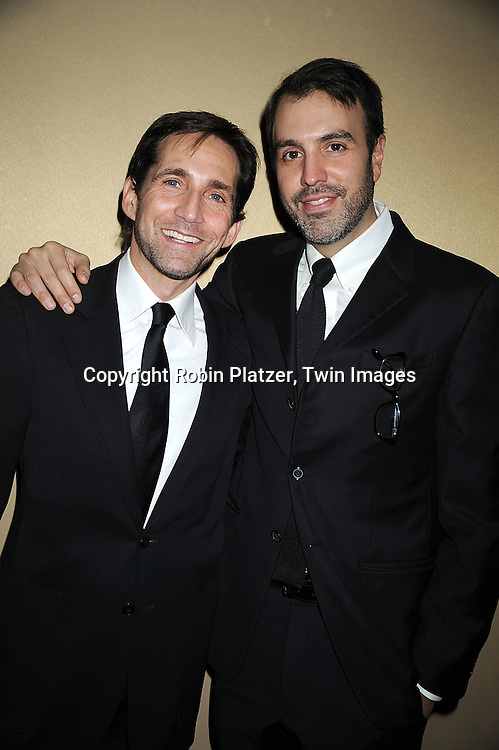 Ron Carlivati, head writer of One Life to Live and boyfriend ..David Rogal..attending The 61st Annual Writer's Guild Awards on February 7, 2009 at The Hudson Theatre at The Millennium Broadway Hotel in New York City.....Robin Platzer, Twin Images