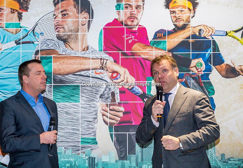 Amsterdam, Netherlands, Januari 10, 2017, Pressconference ABNAMROWTT 2018, Ernst Broekhorst<br /> Photo: Tennisimages/Henk Koster