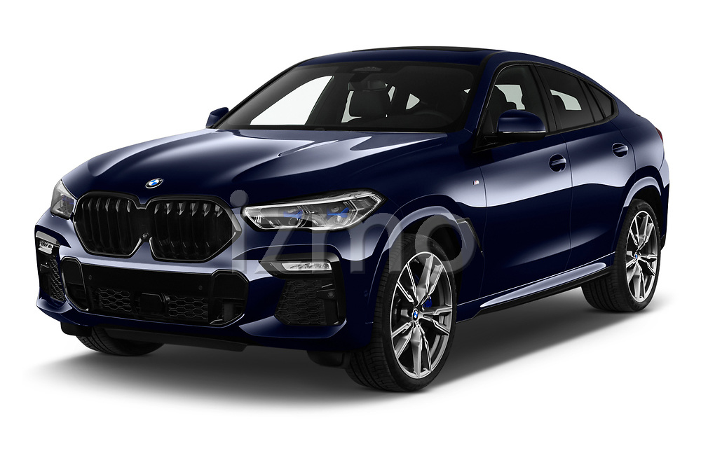 2020 BMW X6 Base 5 Door SUV angular front stock photos of front three quarter view