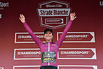 Annemiek van Vleuten (NED) Mitchelton-Scott Women wins the Strade Bianche Women Elite 2019 and now wears the Purple Jersey as leader of the UCI Women's World Tour, running 133km from Siena to Siena, held over the white gravel roads of Tuscany, Italy. 9th March 2019.<br /> Picture: LaPresse/Gian Matteo D'Alberto | Cyclefile<br /> <br /> <br /> All photos usage must carry mandatory copyright credit (© Cyclefile | LaPresse/Gian Matteo D'Alberto)