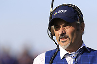 David Feherty commentating for the Golf Channel at the 12th green during Saturday's Foursomes Matches at the 2018 Ryder Cup 2018, Le Golf National, Ile-de-France, France. 29/09/2018.<br /> Picture Eoin Clarke / Golffile.ie<br /> <br /> All photo usage must carry mandatory copyright credit (&copy; Golffile | Eoin Clarke)