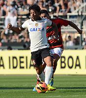 SAO PAULO SP, 01.09.2013 - Corinthians X Flamengo -  Romarinho do Corinthians durante partida contra o Flamengo valida pelo campeonato brasleiro de 2013  no Estadio do Pacaembu em  Sao Paulo, neste domingo, 01. (FOTO: ALAN MORICI / BRAZIL PHOTO PRESS).