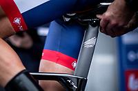 Anthony Turgis (FRA/Team Total - Direct Energie) kept in balance  at the ITT start. <br /> <br /> Baloise Belgium Tour 2019<br /> Stage 3: ITT Grimbergen – Grimbergen 9.2km<br /> ©kramon