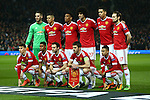 Manchester United team group during the UEFA Europa League match at Old Trafford. Photo credit should read: Philip Oldham/Sportimage