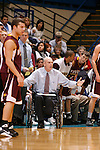 SIOUX FALLS, SD - May 18, 2014 -- LEGENDARY BASKETBALL COACH DON MEYER PASSED AWAY in his home in Aberdeen, S.D. Sunday May 18, 2014 -- FOLLOWING ARE CAPTIONS AND IMAGES FROM 2008 --  Northern State University (SD) head men's basketball coach Don Meyer works the sidelines during a game against the University of Minnesota - Duluth  November 29, 2008. Meyer is poised to break the all-time NCAA win record held by the legendary Bob Knight (902) as they resume Northern Sun Intercollegiate Conference play with road games at Winona State and Upper Iowa on Friday and Saturday, respectively. NSU returns home on Jan. 10 for a televised match-up against the University of Mary. Meyer heads into the weekend with 901 wins. (Photo by Dick Carlson/Inertia)