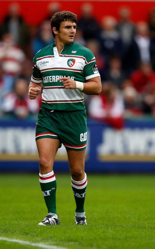 Photo: Richard Lane/Richard Lane Photography. Gloucester Rugby v Leicester Tigers. Guinness Premiership. 07/09/2008. Tigers' Harry Ellis.