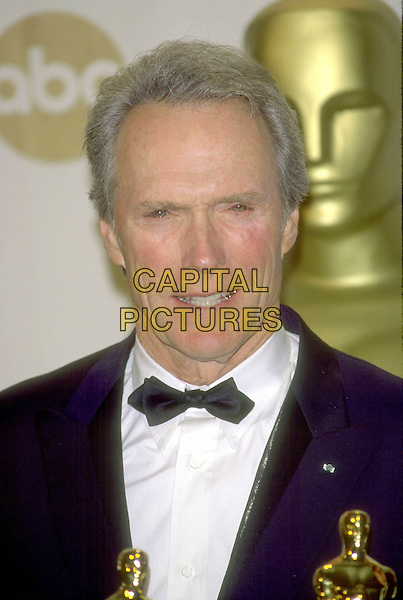 CLINT EASTWOOD.Academy Awards.Ref: CP9468.headshot portrait bow tie academy awardds.www.capitalpictures.com.sales@capitalpictures.com.©Capital Pictures.