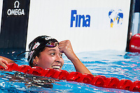 Ranomi Kromowidjojo NED gold medal<br /> Women's 50m freestyle final<br /> Swimming<br /> 15th FINA World Aquatics Championships<br /> Palau Sant Jordi, Barcelona (Spain) 04/08/2013 <br /> © Giorgio Perottino / Deepbluemedia.eu / Insidefoto