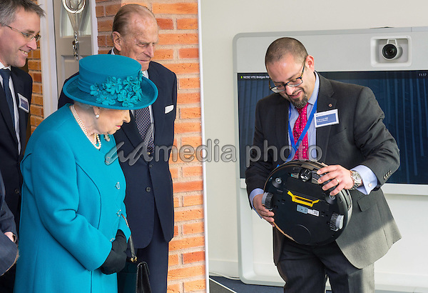 14 February 2017 - London, England - Queen Elizabeth II and Prince Philip Duke of Edinburgh arrive at the official opening of the National Cyber Security Centre (NCSC) in London. Photo Credit: ALPR/AdMedia