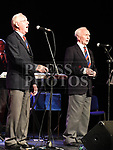 Christy Collins and Eoin Quinn singing at the Larry Delaney tribute concert in The Barbican Centre. Photo:Colin Bell/pressphotos.ie
