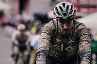 Gianni Moscon (ITA/SKY) rolling in (at the finish)<br /> <br /> 12th Strade Bianche 2018<br /> Siena &gt; Siena: 184km (ITALY)