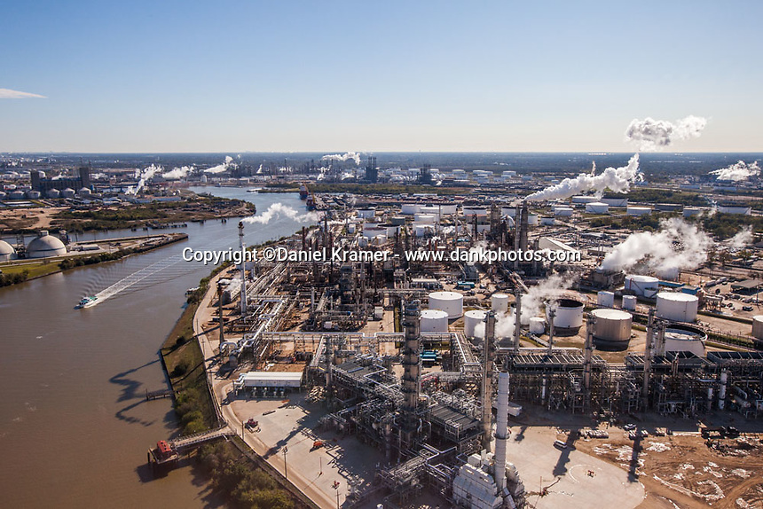 The Houston Ship Channel winds through the largest petrochemical complex in the U.S. (12-9-16)