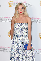 Helen George<br /> in the winners room at the 2016 BAFTA TV Awards, Royal Festival Hall, London<br /> <br /> <br /> &copy;Ash Knotek  D3115 8/05/2016
