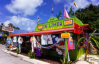 Colorfull shop at the popular tourist destination and beach playground of Key West in Florida, USA