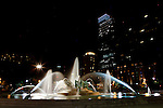 The Logan Circle fountain at night in Philadelphia, Pennsylvania on May 27th 2012. (Photo by Brian Garfinkel)