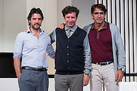 Antonio Hortelano, Gabino Diego and Antonio Garrido at &quot;Nuestras Mujeres&quot; Theater play in Latina Theater, Madrid, Spain, September 01, 2015. <br /> (ALTERPHOTOS/BorjaB.Hojas)