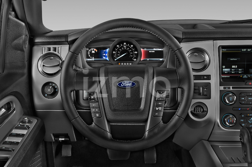 Car pictures of steering wheel view of a 2015 Ford Expedition XLT 5 Door SUV Steering Wheel