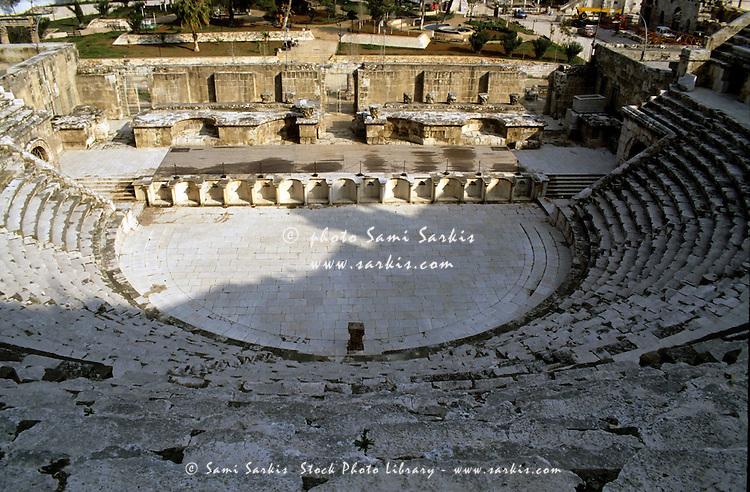 Ruins of the Roman theatre, Amman, Jordan.