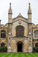 UK, England, Cambridge.  Corpus Cristi College Chapel Entrance.