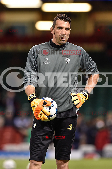 Gianluigi Buffon of Juventus during the training session ahead the UEFA Champions League Final between Real Madrid and Juventus at the National Stadium of Wales, Cardiff, Wales on 2 June 2017. Photo by Giuseppe Maffia.<br /> Giuseppe Maffia/UK Sports Pics Ltd/Alterphotos /NortePhoto.com