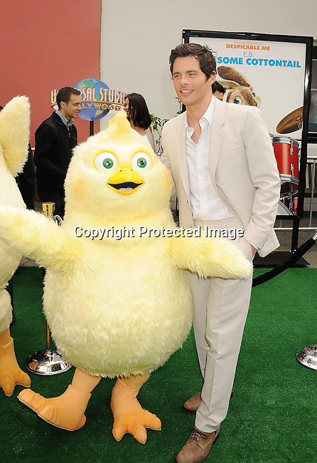 "Universal City, CA - March 27: James Marsden  arrives at the Los Angeles premiere of ""Hop"" at Universal Studios Hollywood on March 27, 2011 in Universal City, California."