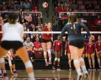 STANFORD, CA - November 2, 2018: Kate Formico at Maples Pavilion. No. 1 Stanford Cardinal defeated No. 15 Colorado Buffaloes 3-2.