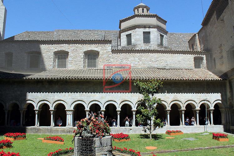Girona Temps de Flors.<br /> 62a Exposicio de Flors, Monuments, Patis i Jardins.<br /> Claustre Catedral de Girona.