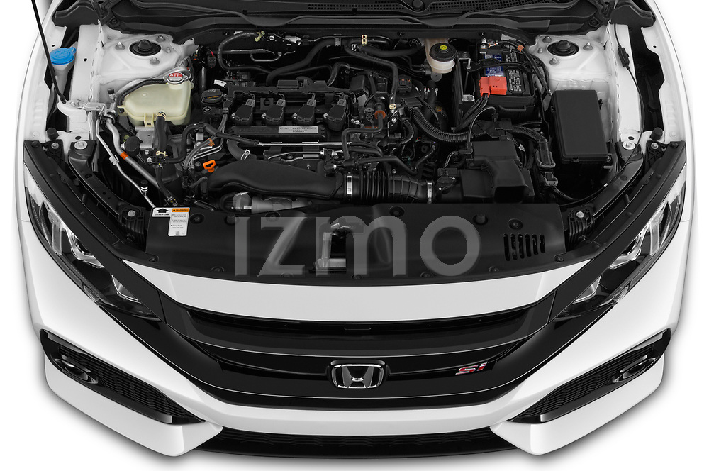 Car Stock 2019 Honda Civic-Si-Coupe - 2 Door Coupe Engine  high angle detail view