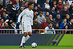 Raphael Varane of Real Madrid during La Liga match between Real Madrid and Sevilla FC at Santiago Bernabeu Stadium in Madrid, Spain. January 18, 2020. (ALTERPHOTOS/A. Perez Meca)