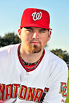28 February 2010: Washington Nationals catcher Derek Norris poses for his Spring Training photo at Space Coast Stadium in Viera, Florida. Mandatory Credit: Ed Wolfstein Photo