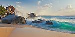 Virgin Gorda, British Virgin Islands, Caribbean <br /> Surf on the beach at Spring Bay, Spring Bay National Park