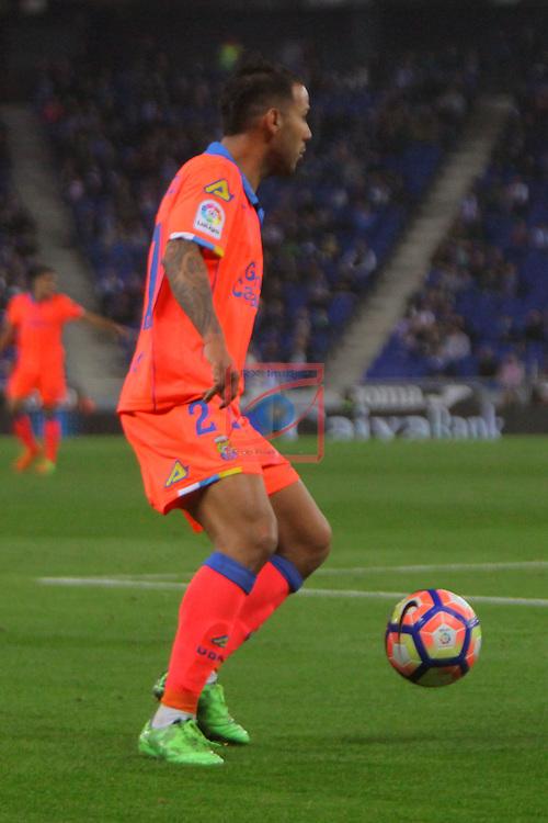 League Santander 2016/2017. Game: 27.<br /> RCD Espanyol vs UD Las Palmas: 4-3.<br /> Jonathan Viera.